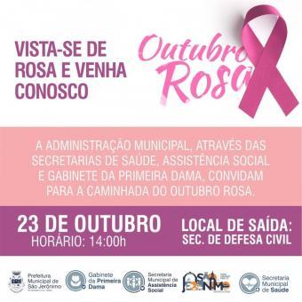 Participe da Caminhada do Outubro Rosa